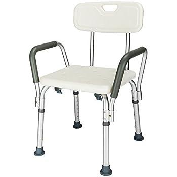 Amazon Com Homcom Adjustable Medical Shower Seat Bath