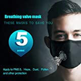 Lightning Deals Anti Air Dust Masks Smoke Pollution Mask - ZYooh Washable Dust Face Mask, Anti Pollution PM2.5 Masks with Adjustable Straps for Women Man (Black)