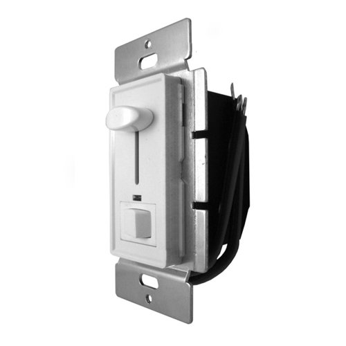 UL Listed Wall Mount Low Voltage LED dimmer switch DC12V 72W with top slider and on/off switch at buttom Single-Pole Standard Wall Switch Box TWD-205