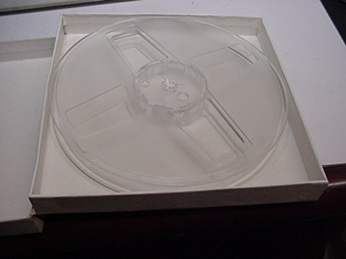1/2 Inch Reel to Reel Video Empty Reel and Square Cardboard Storage Container.