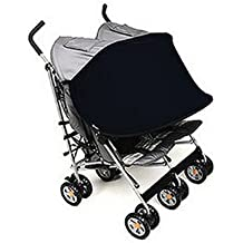 Manito Sun Shade for Twin Stroller (Black)
