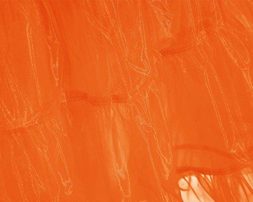 Sottogonna Gonne Donna Rockabilly Rete Petticoats Bridesmay Vintage Retro Orange Sottoveste qawn1I