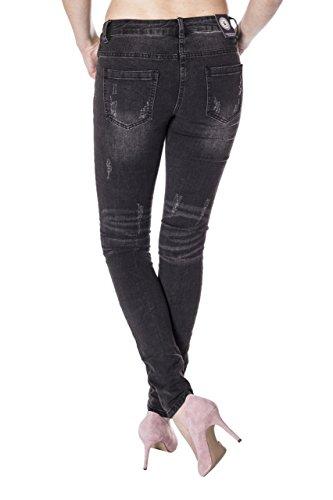 Blue Vaqueros para Básico Monkey Mujer Negro Skinny Jeans rzWr7q6