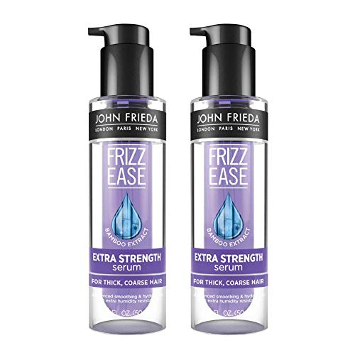 John Frieda Frizz ease extra strength serum, nourishing treatment for thick, coarse hair, featuring bamboo extract and provides salon-caliber smoothing 1.69 ounce (pack of 2), 2 Count