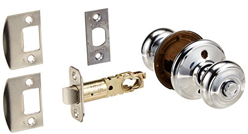 Schlage F40-GEO Georgian Privacy Door Knob Set, Polished Chrome - Chrome Privacy Door Knob