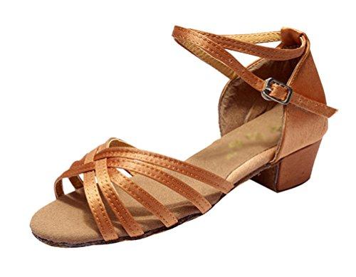 Durable soled Ballroom Sandals Dance Latin Dark Adult's Brown Lihaer Women's and Shoes Children's Dance Shoes Soft 4zXxIRq