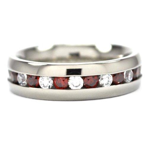 6MM Eternity Ring, Titanium Wedding Band, Titanium Rings For Women