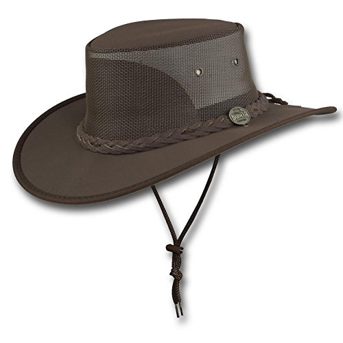 Barmah Hats Canvas Drover Hat 1057BE / 1057KH / 1057BR / 1057BL - Brown - Large