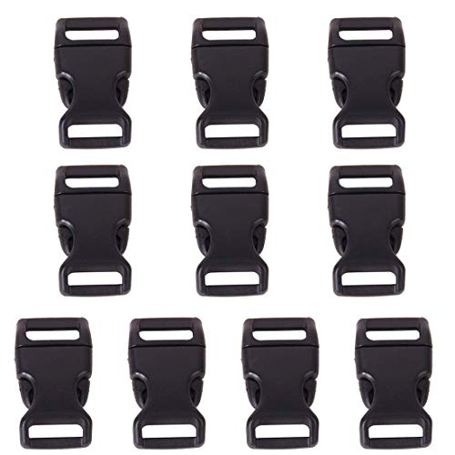 - Stopper - 10pcs 5 8 Side Release Plastic Buckles Webbing Straps Black - Belt Earrings Heels Bell Shelves Metal Clip Caps Cabinet Table Paracord Lock Buckle Heel Bottle Drawstring Backpack