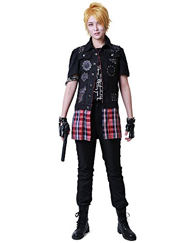 - Miccostumes Men's Final Fantasy XV Prompto Argentum Cosplay Costume (Men s) Black