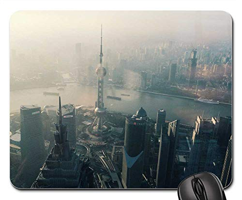(Mouse Pads - Oriental Pearl Tower Shanghai City Skyscraper)
