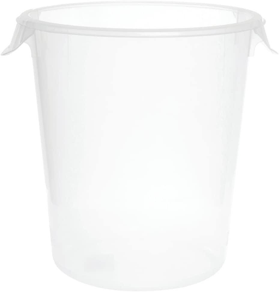 """Rubbermaid 8 qt Round Clear Plastic Container - 10""""Dia x 10 5/8""""H"""