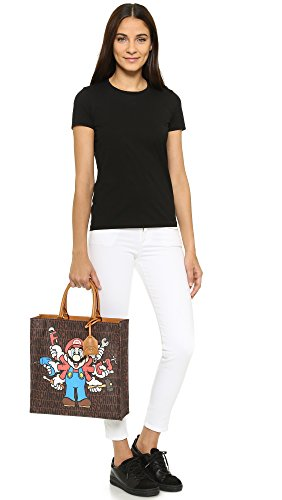 Moschino sac à main femme en cuir super mario marron