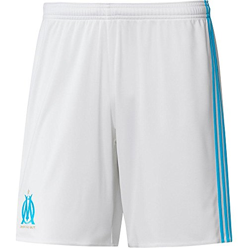 fan products of 2017-2018 Olympique Marseille Adidas Home Shorts (White)