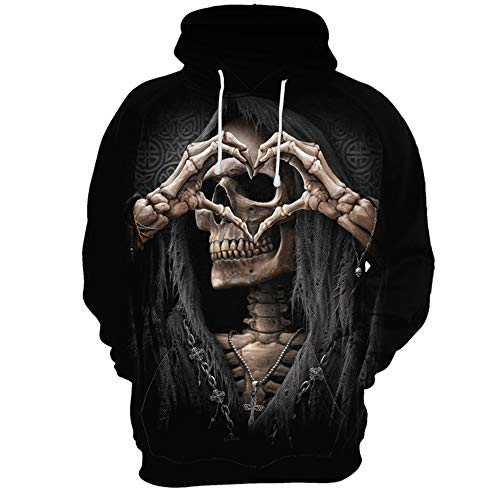 SLTX Unisex Casual Hoodies Cool 3D Printed Sweatshirt-Sweetheart-L ()