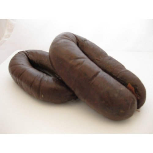 Portuguese Blood Sausage, Chorico Mouro (Morcilla) - 2 Links (1.5-2 Lb avg)