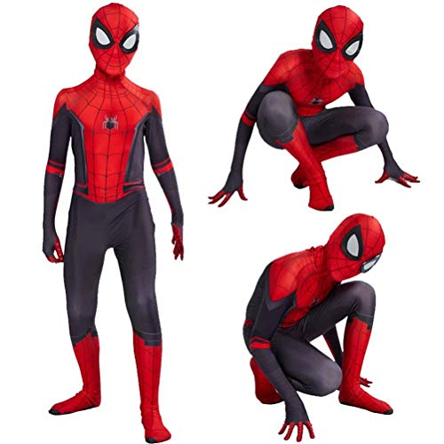 Tsyllyp Kids Adult New Spider-Man Far from Home Lycra Spandex Zentai Halloween Cosplay Costume Jumpsuit Suit]()