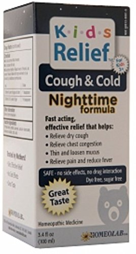 Homeolab USA Kids Relief Cough & Cold Nighttime 3.4 oz (Pack of 12) by Homeolab