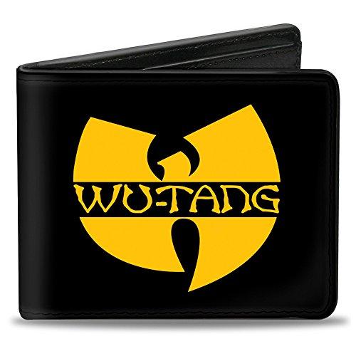 Buckle-Down PU Bifold Wallet - WU-TANG Logo Black/Gold]()
