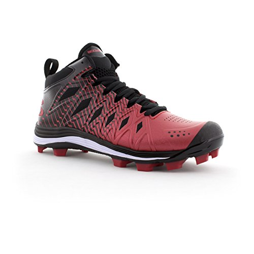 discount low shipping great deals cheap online Boombah Men's Squadron Molded Mid Cleats - 15 Color Options - Multiple Sizes Black/Red cheap sale pay with visa sale factory outlet M3GLmRD