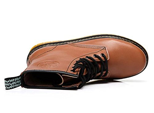 Camel Hombres Classical 8 Eye Lace Up Martin Bota Marrón Talla 43 M Eur