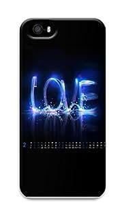 iPhone 5 5S Case Blue Love 3D Custom iPhone 5 5S Case Cover