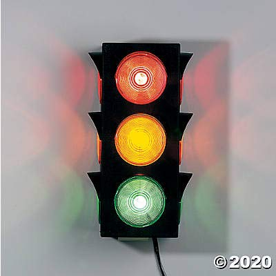 Large Blinking Traffic Light - great for dorm rooms, game rooms and home decor: Home Improvement