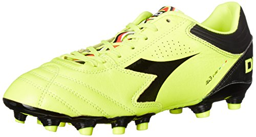 Diadora Men's Italica 3 K Pro Soccer Cleat, Yellow Fluo/Black, 11.5 M US