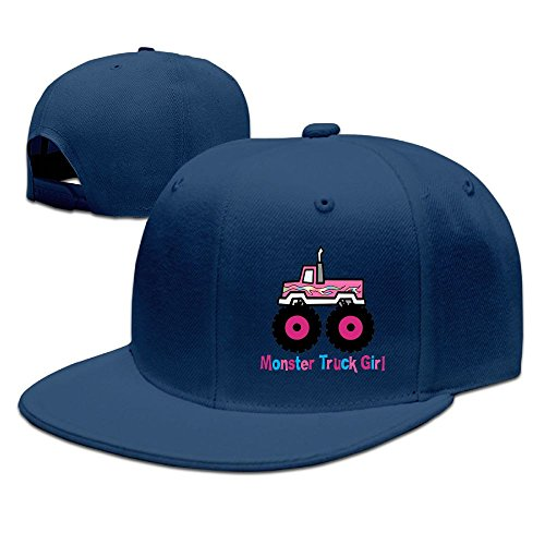 Brush Lightweight Monster (BjlkMLMLM Monster Truck Girl Unisex Trucker Caps,Hip Hop Flat Brim Baseball Hat)