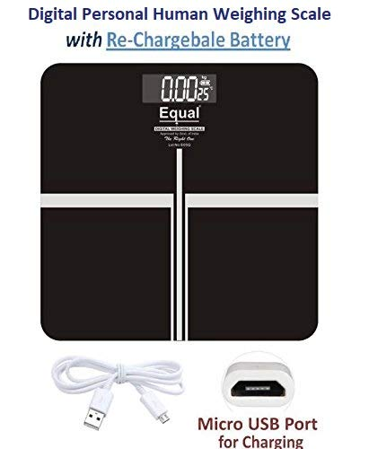 Equal Digital Weighing Scale 180 Kg With Rechargeable Battery