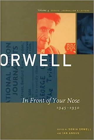 Afbeeldingsresultaat voor George Orwell In Front of Your Nose