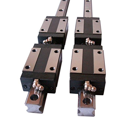 Joomen CNC Set 20-500mm 2x Linear Guideway Rail 4x Square type carriage bearing block