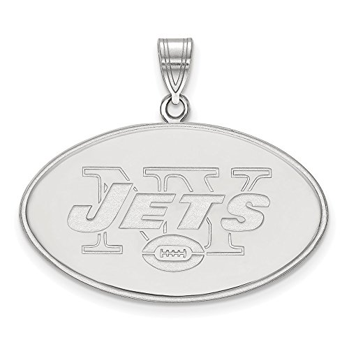 NFL Sterling Silver New York Jets XL Pendant