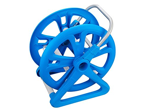 Portable Swimming Pool Vacuum Storage Reel 42ft Capacity with Aluminum Handle (Pool Reel Hose)