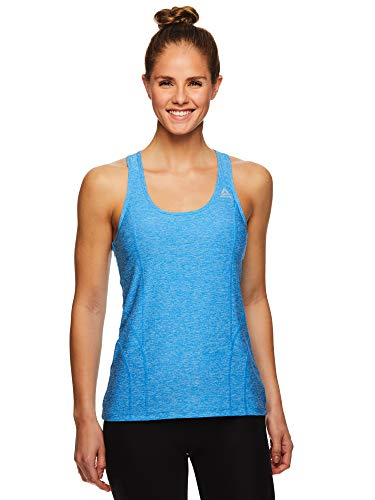 Reebok Women's Dynamic Fitted Performance Racerback Tank Top - Dyna Blithe Heather, Small