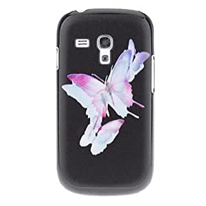 WEV Watermark Butterfly Pattern Hard Back Case Cover for Samsung Galaxy S3 Mini I8190