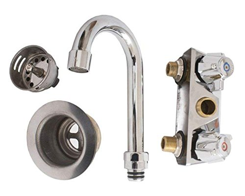 Empura Commercial 16-1/2'' Stainless Steel Wall Mount Washing Hand Sink and Faucet by Empura (Image #4)