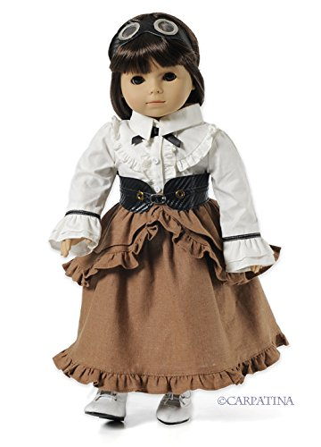 CARPATINA Camden Station Outfit and Shoes fits American Girl Dolls