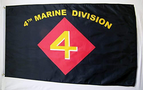 4th Marine Division Flag 3' X 5' Indoor Outdoor Military Ban
