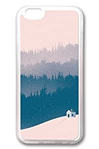 iPhone 6 Cases, Personalized Protective Soft Rubber TPU Clear Case Cover for New iPhone 6 4.7 inch Pink Snow Day