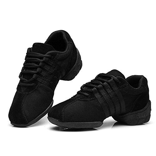 hip moderno libre zapatos de al aire deportivo hop T01 de Negro de deporte zapatos zapatos jazz mujeres zapatillas baile ES SWDZM qATXIw6