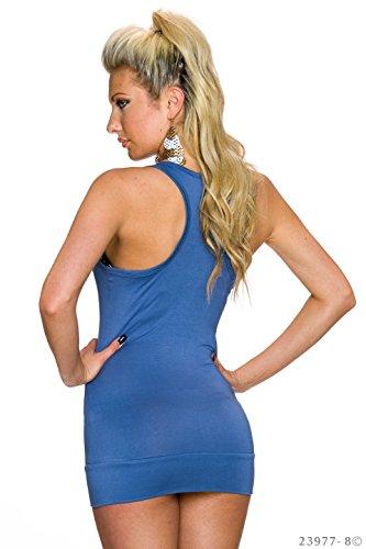 Angies Glamour Fashion - Camiseta sin mangas - para mujer Blau Indigo