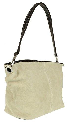 Leather Tote London Suede Genuine Bag Beige Shoulder Handbag Craze Womens New C6XqxzqSw