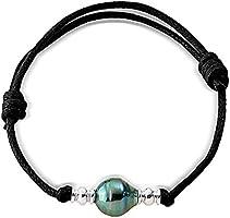 Pearls & Colors - Bracelet Cordon - Argent 925 - Perle de Cultur