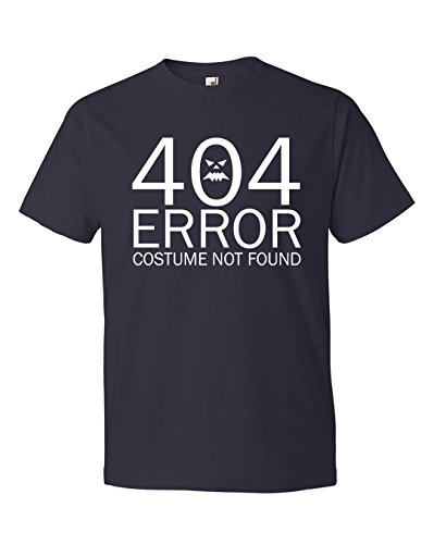 Dancing Participle Men's 404 Error Costume Not Found Scoop Neck T-Shirt, Large, (Comedy Of Errors Costumes)