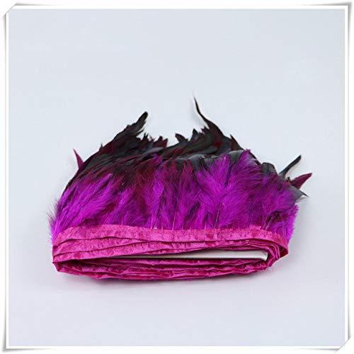 CUSHY Wholesale 2 Yardas Color Natural Plumas de Gallo Flecos con ...