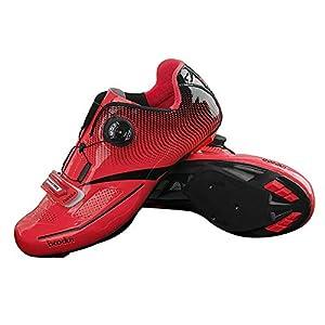 41DT5K0FOkL. SS300 Lixada Scarpe da Ciclismo TPU di Nylon Ultraleggero, Scarpe da Equitazione da Bici da Corsa Traspirante per Uomo…