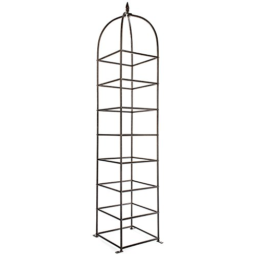 H Potter Trellis Large Obelisk for Climbing Garden Plants Weather Resistant Iron and Metal Vertical Yard Art