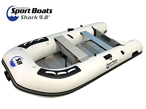 Inflatable Sport Boats Shark 9.8' - Model 300 - Aluminum Floor Dinghy with Seat Bag by Inflatable Sport Boats (Image #6)