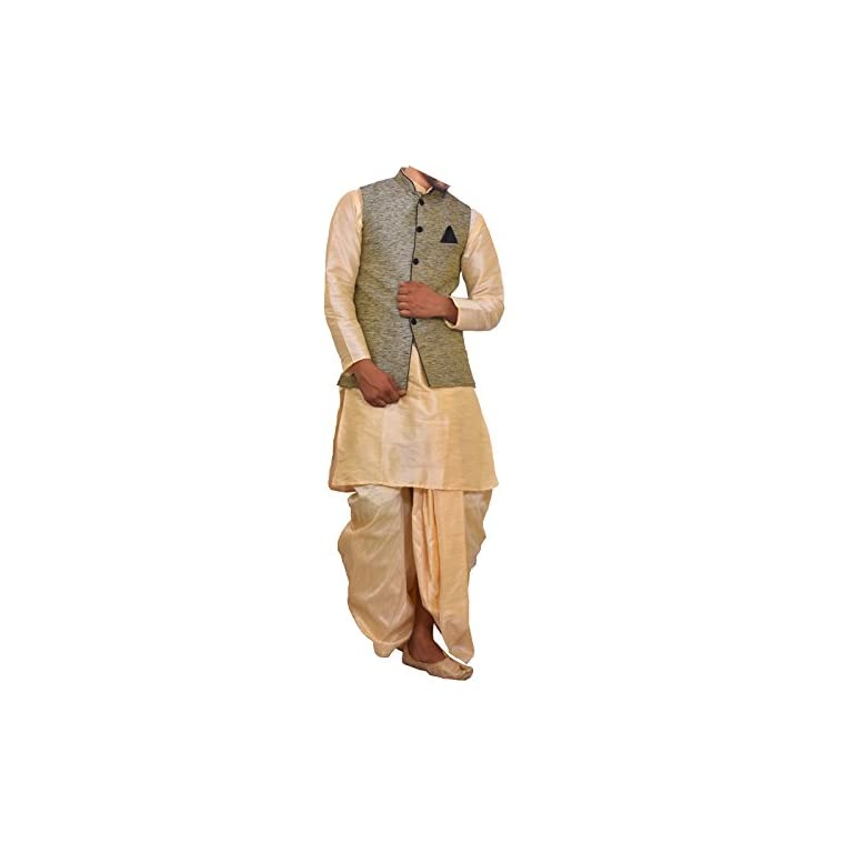 41DT6EzHmYL. SS768  - Modern Garments Men Dhoti Kurta with Waistcoat